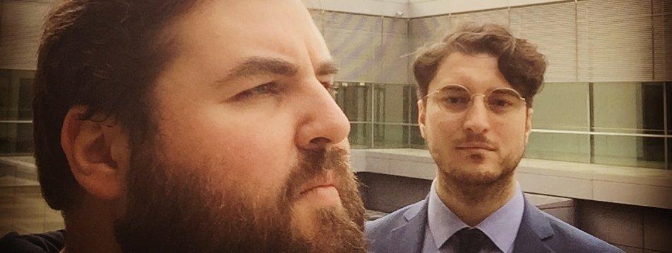 Patrick Pehl und Kenny Dettmers auf dem Reichstag